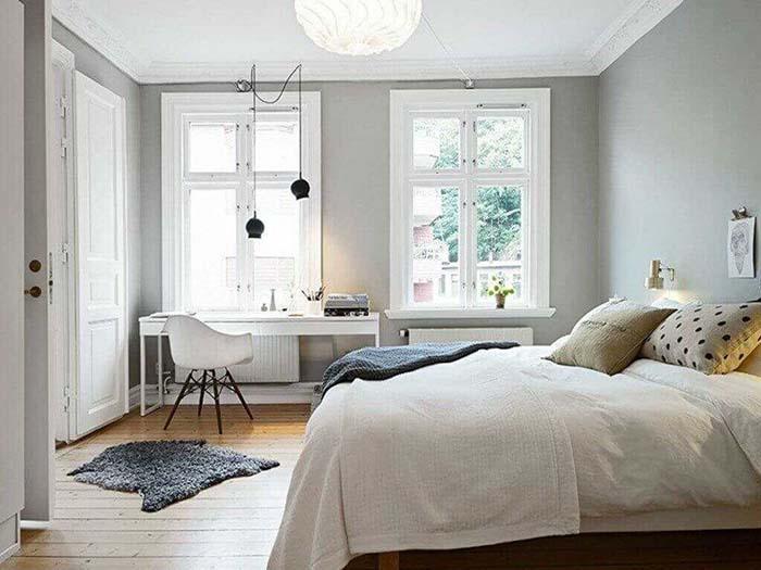 Chọn màu sơn tường sáng giúp không gian trở nên thoáng đãng
