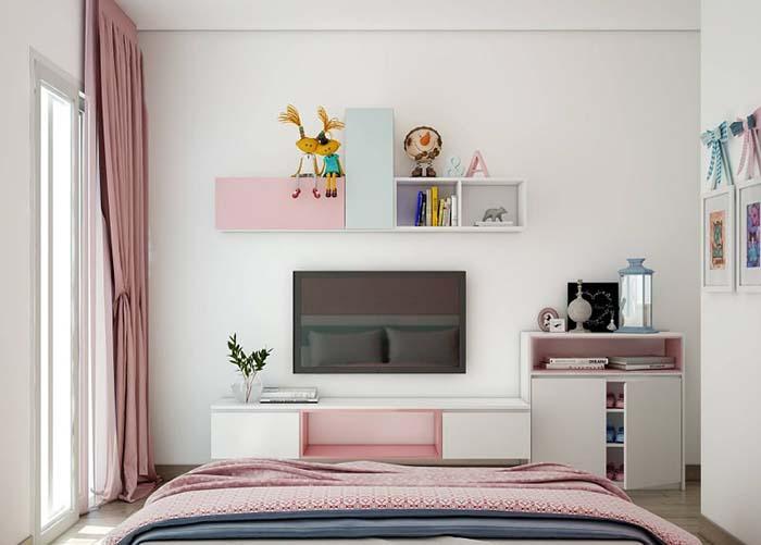 Tận dụng không gian bài trí trên tường giúp tiết kiệm diện tích