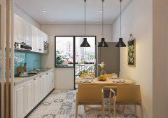 Bộ bàn ăn thông minh 4 ghế gấp gọn dành riêng cho chung cư nhỏ