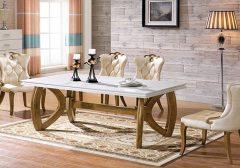 Top 10+ bộ bàn ăn mặt đá 8 ghế thiết kế độc đáo nhất