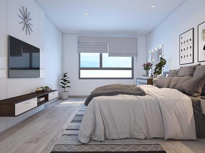 Cửa sổ gần giường ngủ tạo hiệu ứng không gian