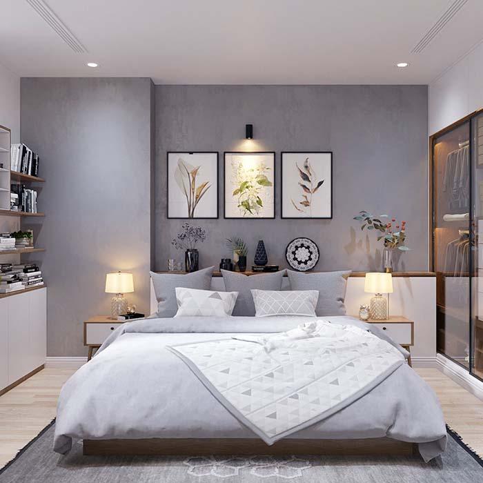 Ga trải giường tông màu lạnh