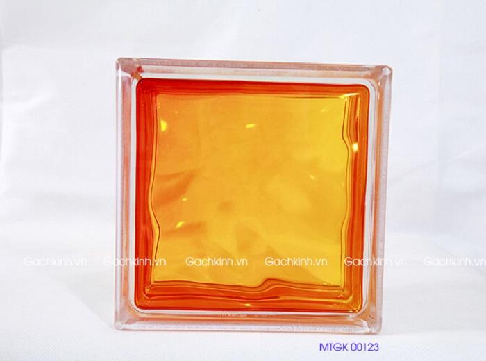 gạch kính đỏ cam MTGK 00123