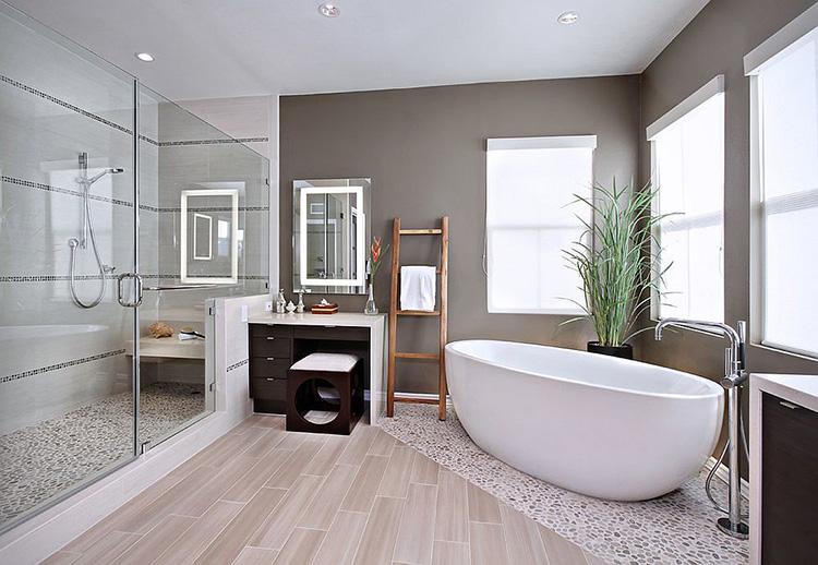 Thiết kế phòng tắm mở