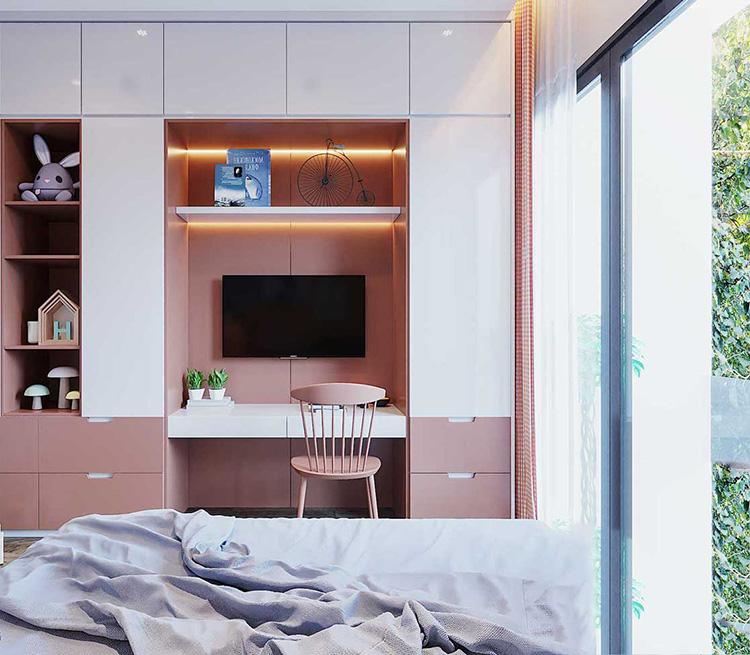 Thiết kế phòng ngủ của cô ngàng độc thân