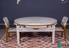 Những bộ bàn ăn thông minh mặt đá đẹp hút hồn cho không gian bếp nhà bạn